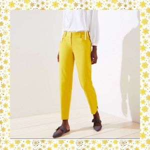 Loft - Hello sunshine! Yellow crop pant.